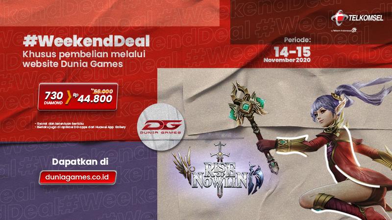 Weekend Deal Dunia Games - Promo Weekend 14 - 15 November