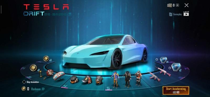 PUBG Mobile Tesla